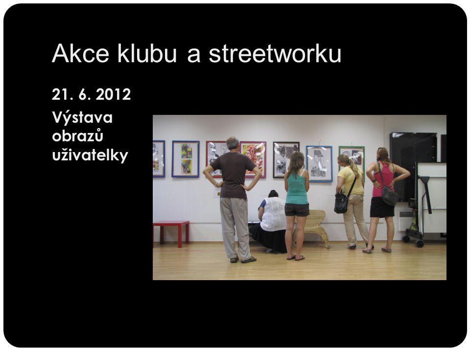 Akce klubu a streetworku 21. 6. 2012 Výstava obrazů uživatelky
