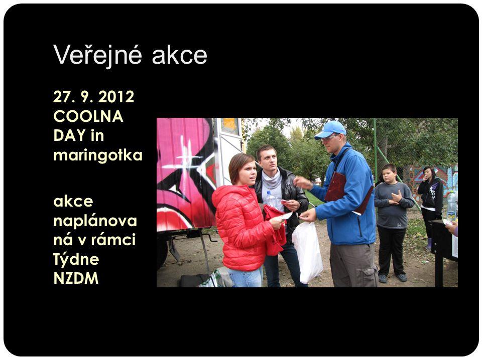 Veřejné akce 27. 9. 2012 COOLNA DAY in maringotka akce naplánova ná v rámci Týdne NZDM