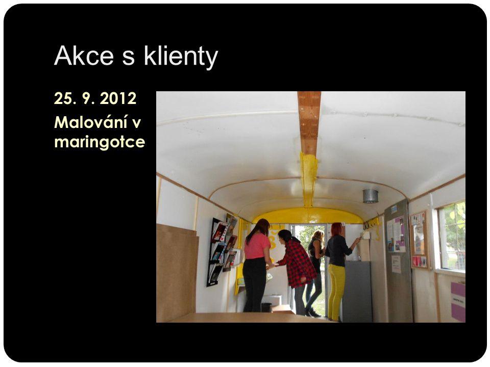 Akce s klienty 25. 9. 2012 Malování v maringotce