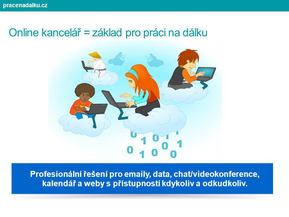 Online kancelář = základ pro práci na dálku Profesionální řešení pro emaily, data, chat/videokonference, kalendář a weby s přístupností kdykoliv a odk