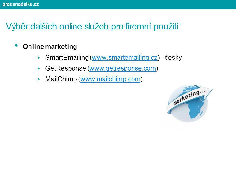 Výběr dalších online služeb pro firemní použití Online marketing SmartEmailing (www.smartemailing.cz) - českywww.smartemailing.cz GetResponse (www.get