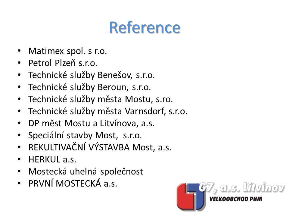Matimex spol. s r.o. Petrol Plzeň s.r.o. Technické služby Benešov, s.r.o.