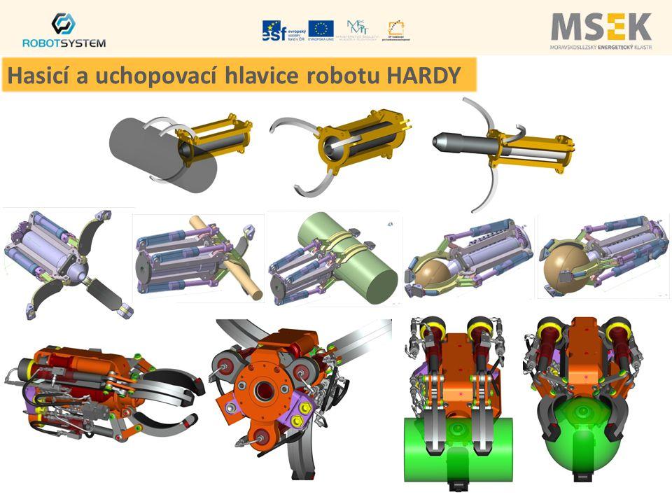 Hasicí a uchopovací hlavice robotu HARDY