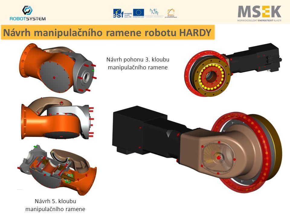 Návrh 5. kloubu manipulačního ramene Návrh pohonu 3. kloubu manipulačního ramene Návrh manipulačního ramene robotu HARDY