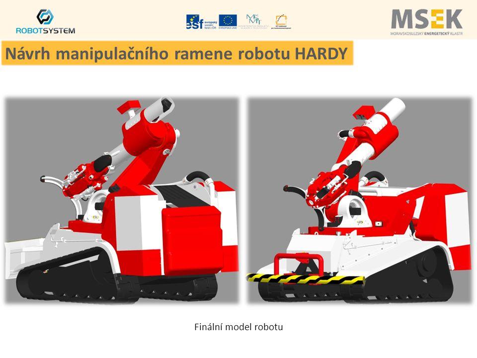 Finální model robotu Návrh manipulačního ramene robotu HARDY