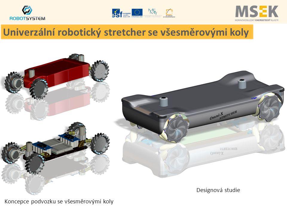 Koncepce podvozku se všesměrovými koly Designová studie Univerzální robotický stretcher se všesměrovými koly