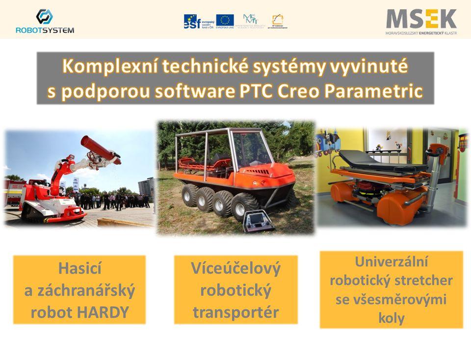 Hasicí a záchranářský robot HARDY Víceúčelový robotický transportér Univerzální robotický stretcher se všesměrovými koly