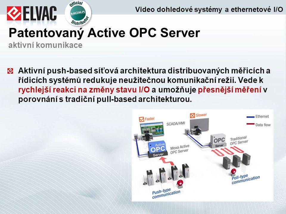 Aktivní push-based síťová architektura distribuovaných měřicích a řídicích systémů redukuje neužitečnou komunikační režii. Vede k rychlejší reakci na