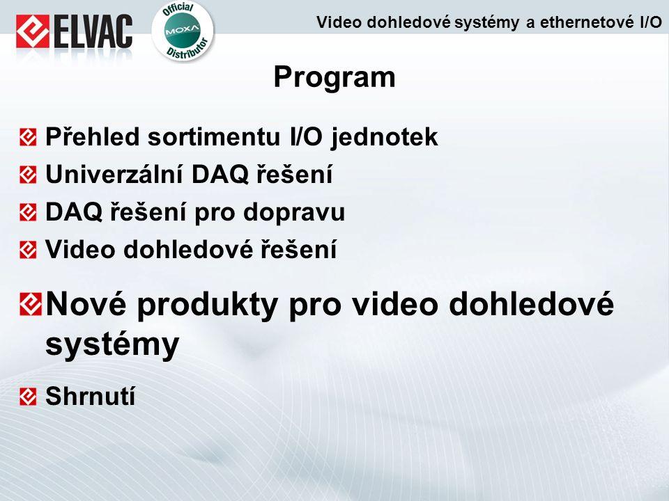 Program Přehled sortimentu I/O jednotek Univerzální DAQ řešení DAQ řešení pro dopravu Video dohledové řešení Nové produkty pro video dohledové systémy