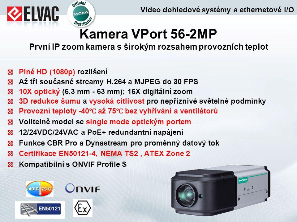 Plné HD (1080p) rozlišení Až tři současné streamy H.264 a MJPEG do 30 FPS 10X optický (6.3 mm - 63 mm); 16X digitální zoom 3D redukce šumu a vysoká ci