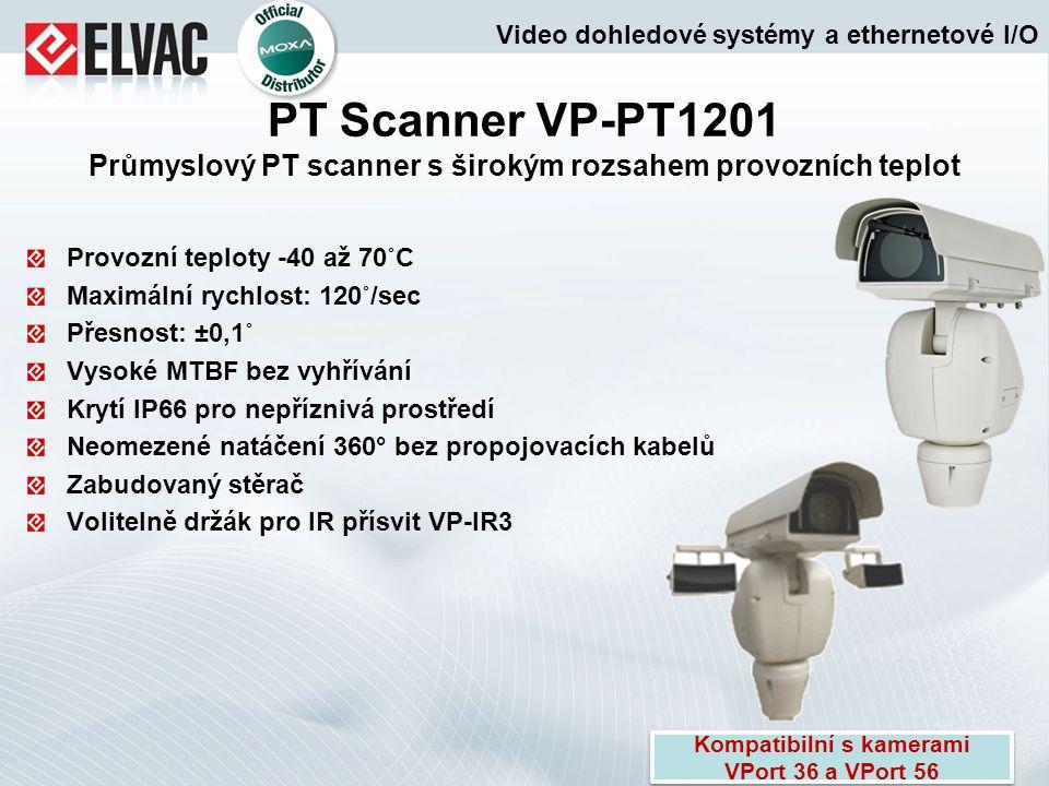 Provozní teploty -40 až 70˚C Maximální rychlost: 120˚/sec Přesnost: ±0,1˚ Vysoké MTBF bez vyhřívání Krytí IP66 pro nepříznivá prostředí Neomezené natá