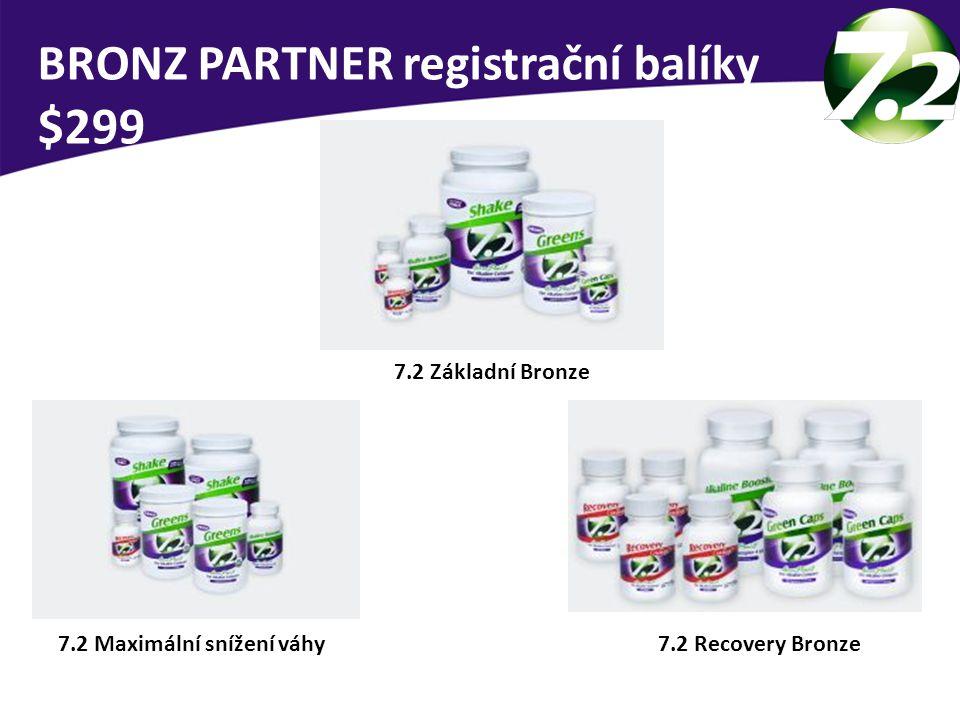 7.2 Maximální snížení váhy 7.2 Základní Bronze 7.2 Recovery Bronze BRONZ PARTNER registrační balíky $299