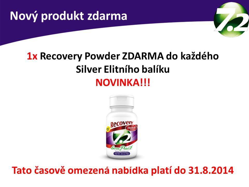 1x Recovery Powder ZDARMA do každého Silver Elitního balíku NOVINKA!!! Nový produkt zdarma Tato časově omezená nabídka platí do 31.8.2014