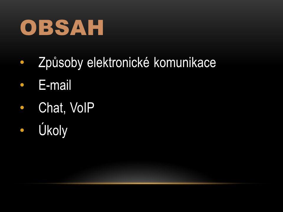 """Příklady Přenos textu, hlasu, videa Komunikace = """"dorozumívání Elektronická komunikace TextováE-mailChatAudiovizuálníSkype"""