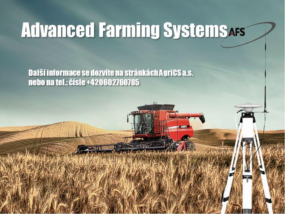 Další informace se dozvíte na stránkách AgriCS a.s.