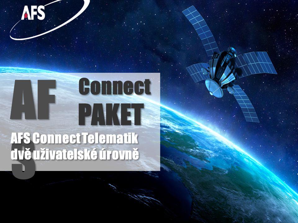 AFS Connect Služba AFS Connect Telematics je dostupná ve dvou úrovních: 1) Základní úroveň AFS Connect Manager : sledování polohy strojů definování virtuálních hranic a zakázaných oblastí pro pohyb stroje, do kterých stroj nesmí vjet nebo je překročit s upozorněním na SMS nebo email Sledování a analyzování pohybu strojů