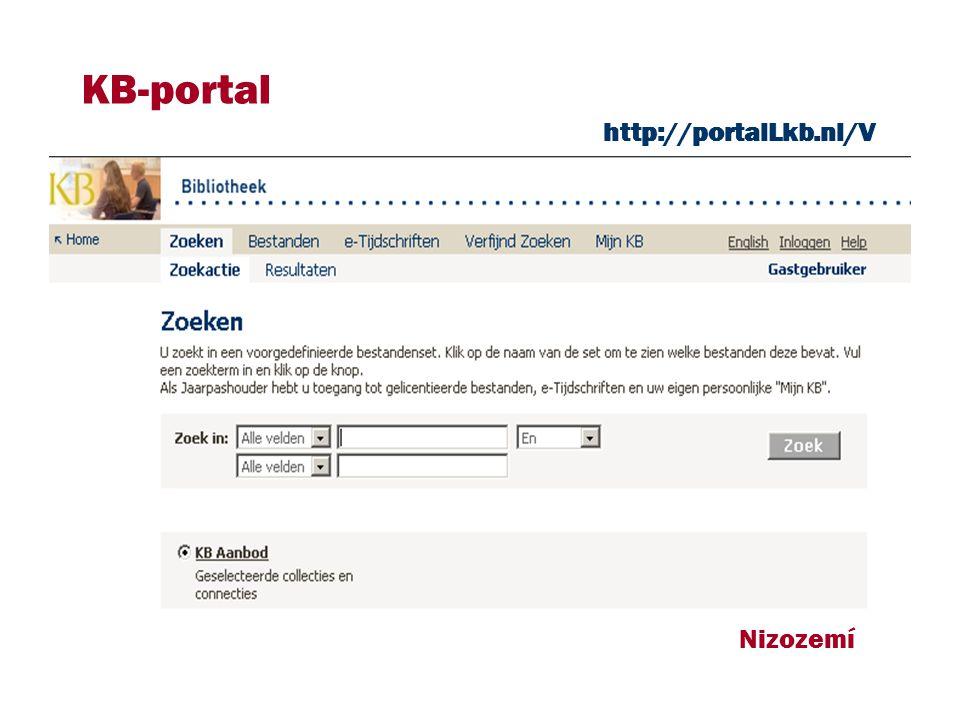 http://portalLkb.nl/V KB-portal Nizozemí