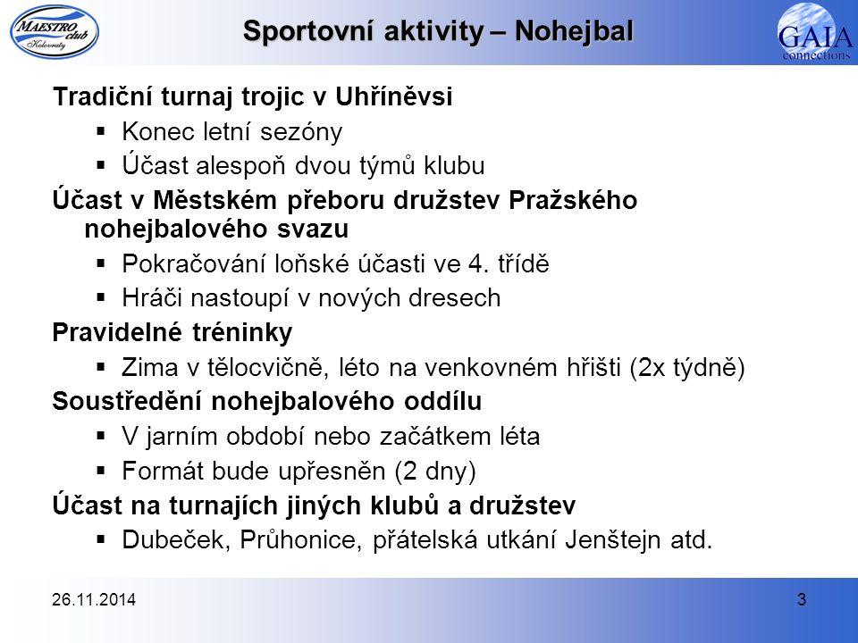 26.11.20144 Sportovní aktivity – Volejbal Uspořádání 7.