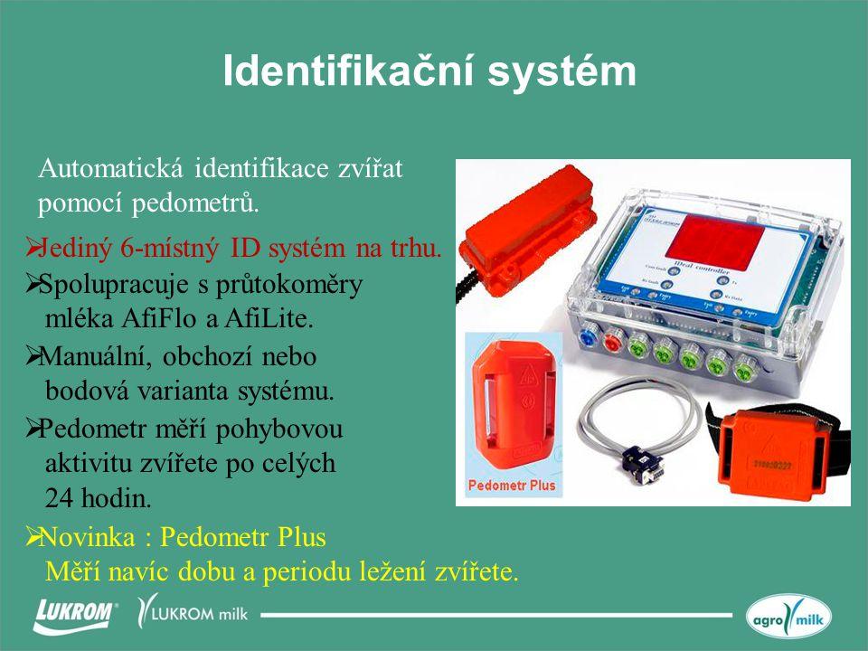 Identifikační systém  Jediný 6-místný ID systém na trhu.  Spolupracuje s průtokoměry mléka AfiFlo a AfiLite. Automatická identifikace zvířat pomocí