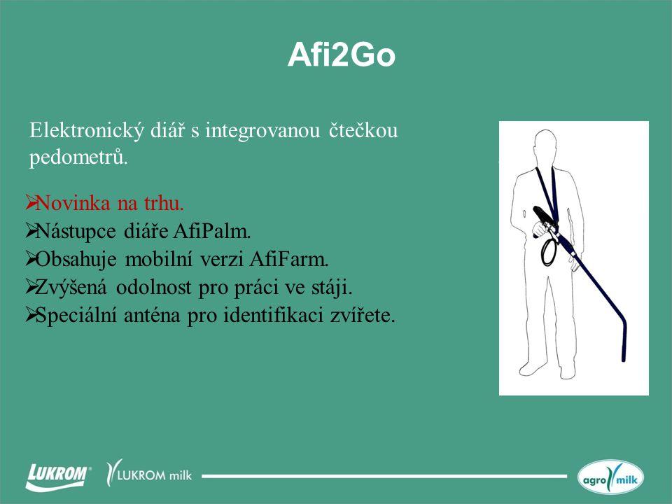 Afi2Go Elektronický diář s integrovanou čtečkou pedometrů.  Novinka na trhu.  Nástupce diáře AfiPalm.  Obsahuje mobilní verzi AfiFarm.  Zvýšená od