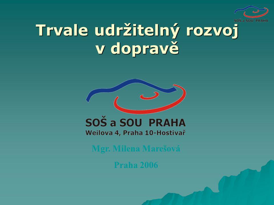 Trvale udržitelný rozvoj v dopravě Mgr. Milena Marešová Praha 2006