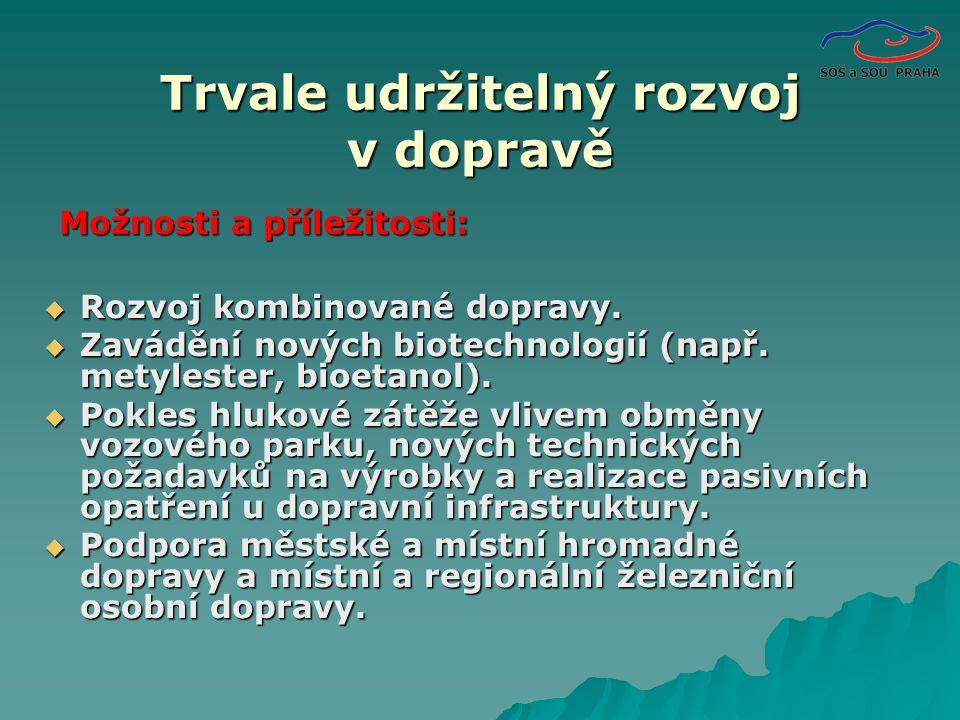 Rozvoj kombinované dopravy. Zavádění nových biotechnologií (např.