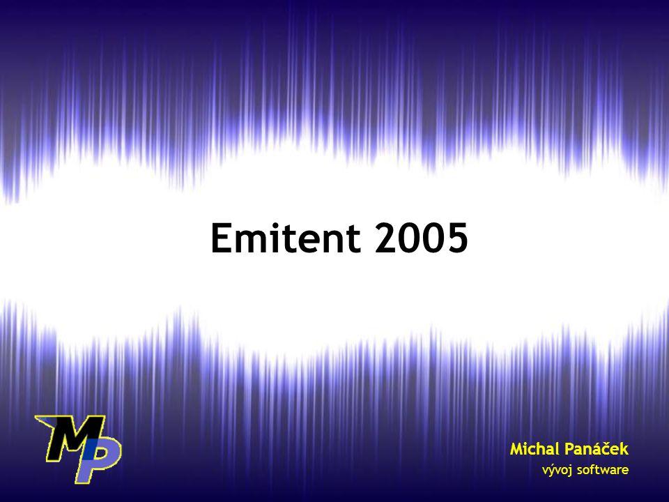 Emitent 2005 Michal Panáček vývoj software