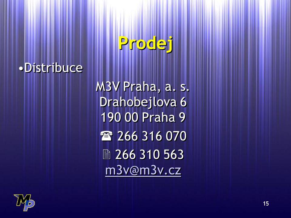 15 Prodej Distribuce M3V Praha, a.s.