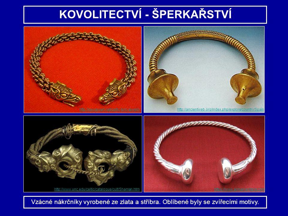 KOVOLITECTVÍ - ŠPERKAŘSTVÍ Vzácné nákrčníky vyrobené ze zlata a stříbra. Oblíbené byly se zvířecími motivy. http://sewjewerl.net/celtic-torc-jewelry h