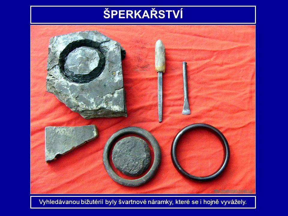 ŠPERKAŘSTVÍ Vyhledávanou bižutérií byly švartnové náramky, které se i hojně vyvážely. http://keltoman.sweb.cz/