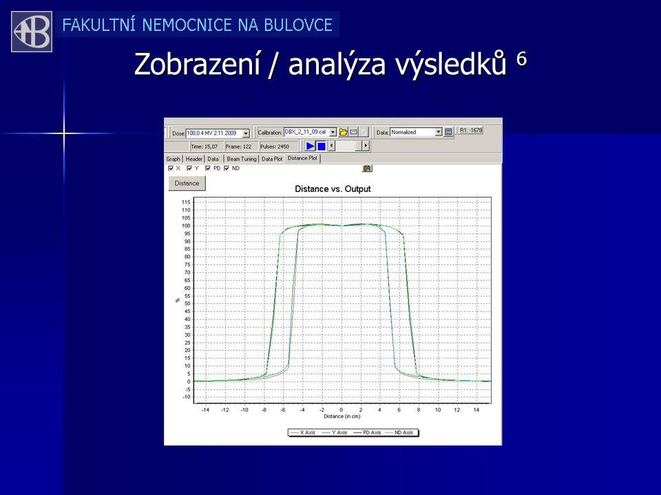 Zobrazení / analýza výsledků 6