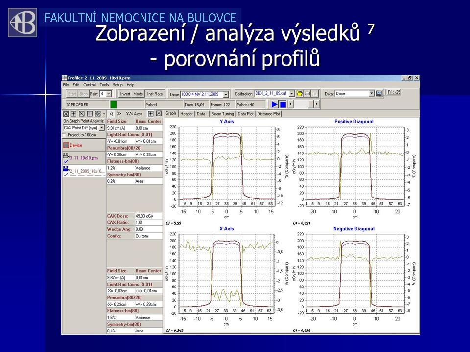 Zobrazení / analýza výsledků 7 - porovnání profilů