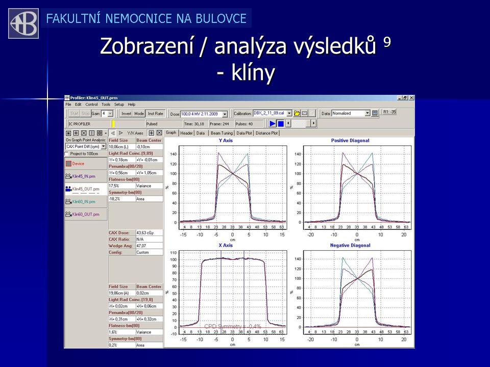 Zobrazení / analýza výsledků 9 - klíny