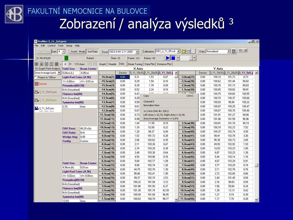 Zobrazení / analýza výsledků 3