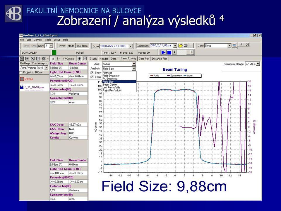 Zobrazení / analýza výsledků 4