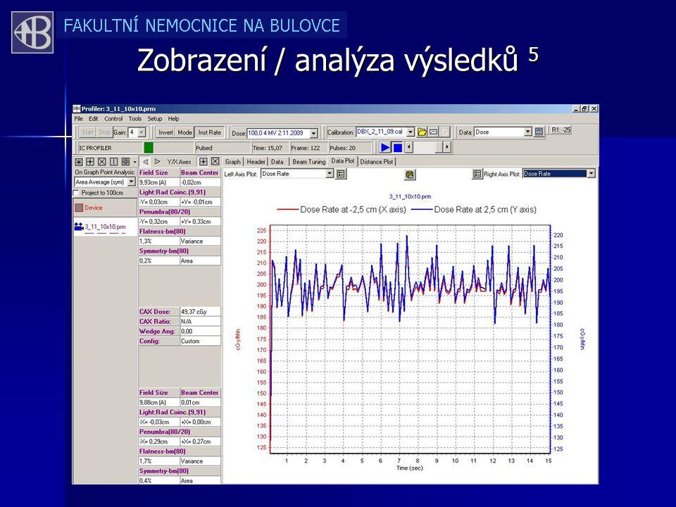 Zobrazení / analýza výsledků 5
