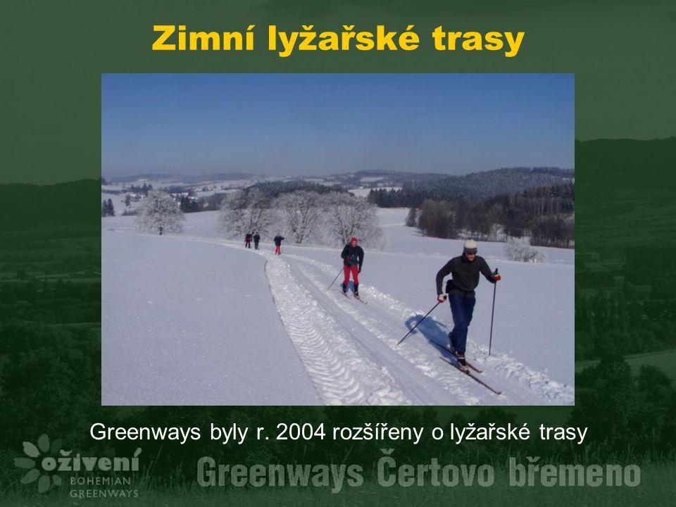 Zimní lyžařské trasy Greenways byly r. 2004 rozšířeny o lyžařské trasy