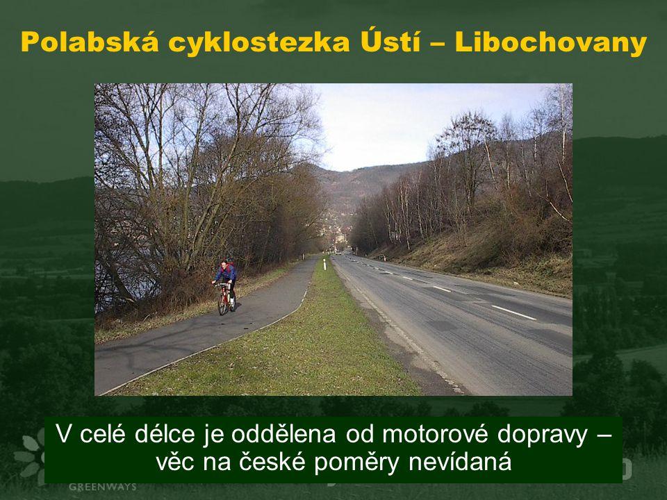 Polabská cyklostezka Ústí – Libochovany V celé délce je oddělena od motorové dopravy – věc na české poměry nevídaná
