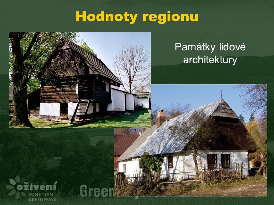 Hodnoty regionu Památky lidové architektury