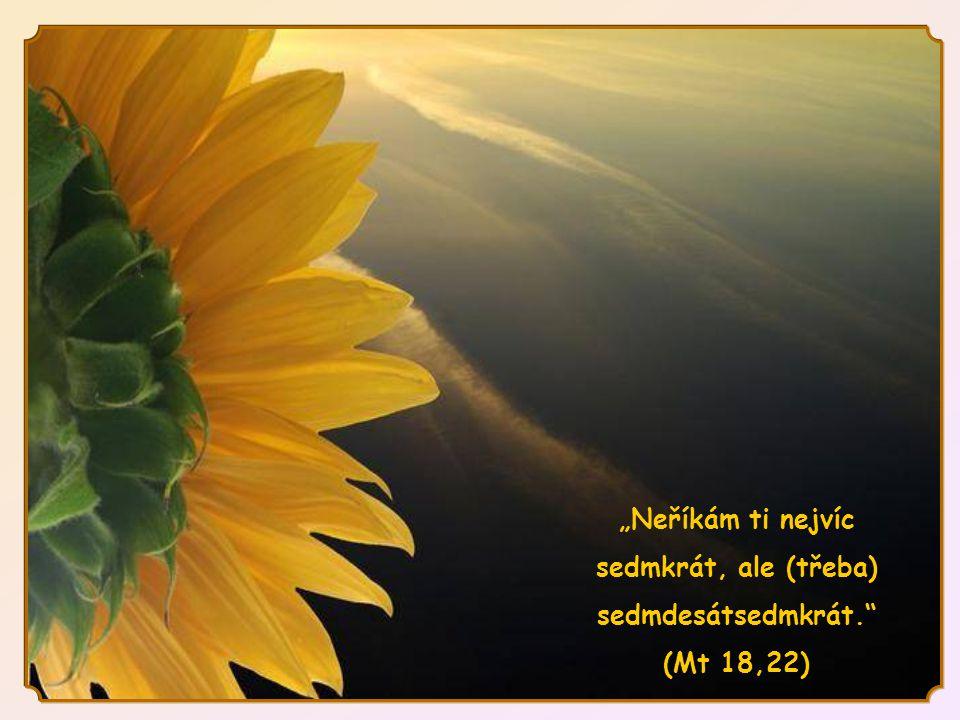 Odpuštění není slabost, kdy ze strachu před někým silnějším nebereme v úvahu křivdu, které se dopustil.