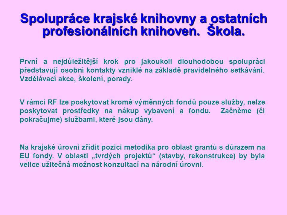 Spolupráce krajské knihovny a ostatních profesionálních knihoven.