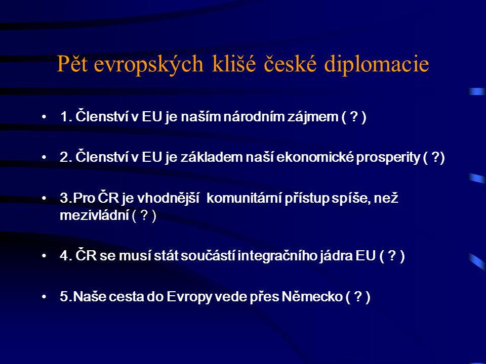 Pět evropských klišé české diplomacie 1. Členství v EU je naším národním zájmem ( .