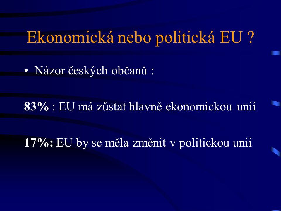 Ekonomická nebo politická EU .