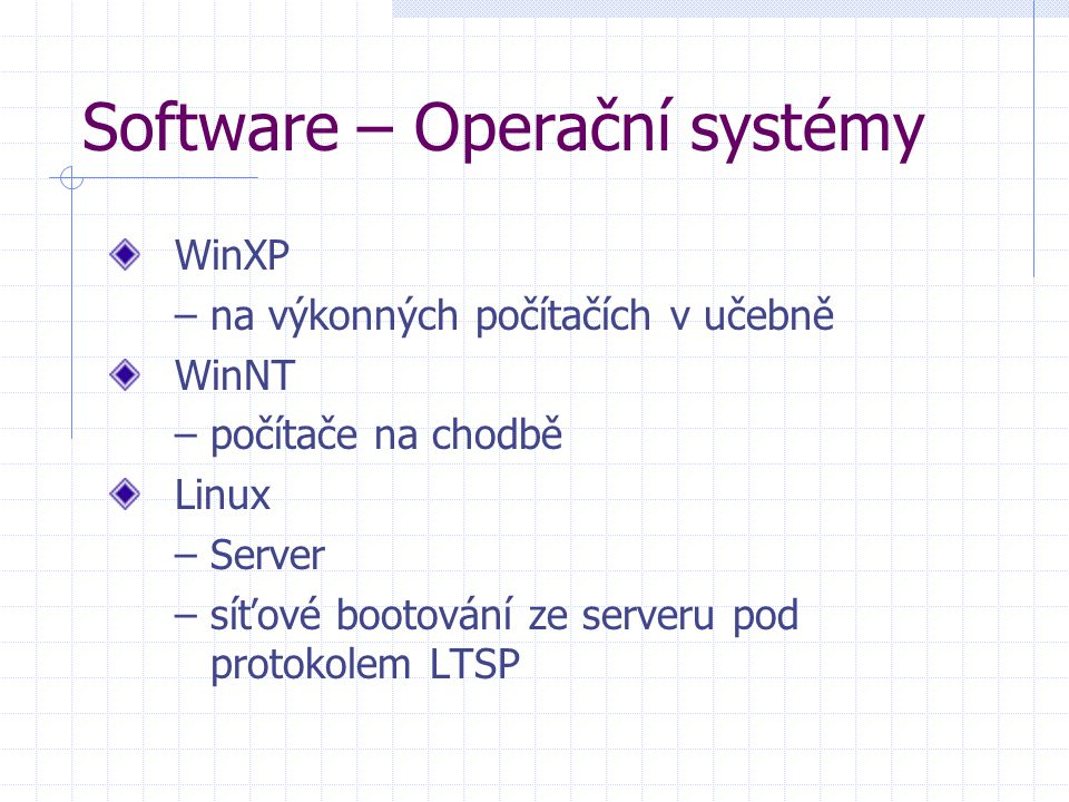 Software – Bezpečnost Server - NOD 32 antivirus Stanice - AVG 6.0