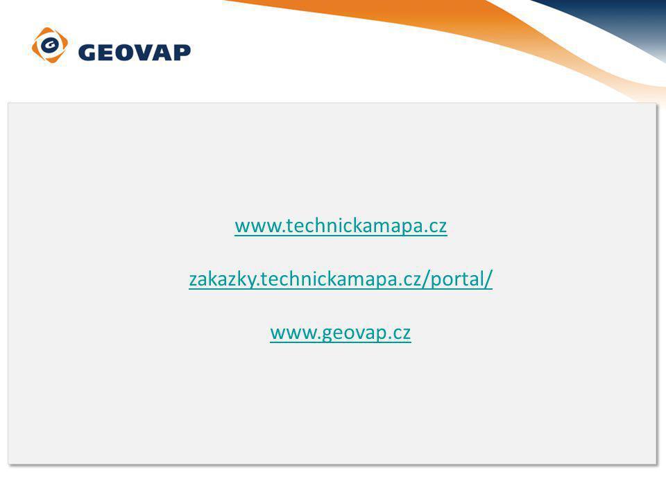www.technickamapa.cz zakazky.technickamapa.cz/portal/ www.geovap.cz