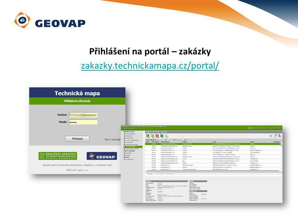Přihlášení na portál – zakázky zakazky.technickamapa.cz/portal/