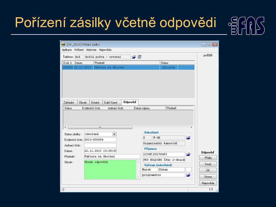 """Připojení přílohy k zásilce Tlačítko """"Přilohy Připojit můžeme libovolný dokument V libovolném formátu Připojení přilohy k zásilce Současně do: Zakázky Fakturace Smlouvy Klienti Atd."""