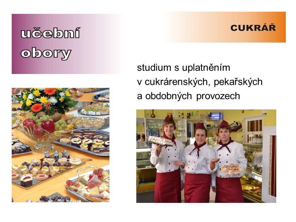 studium s uplatněním v cukrárenských, pekařských a obdobných provozech