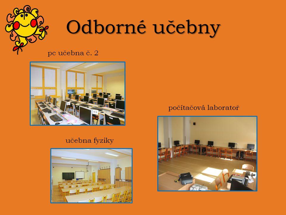 Odborné učebny pc učebna č. 2 počítačová laboratoř učebna fyziky