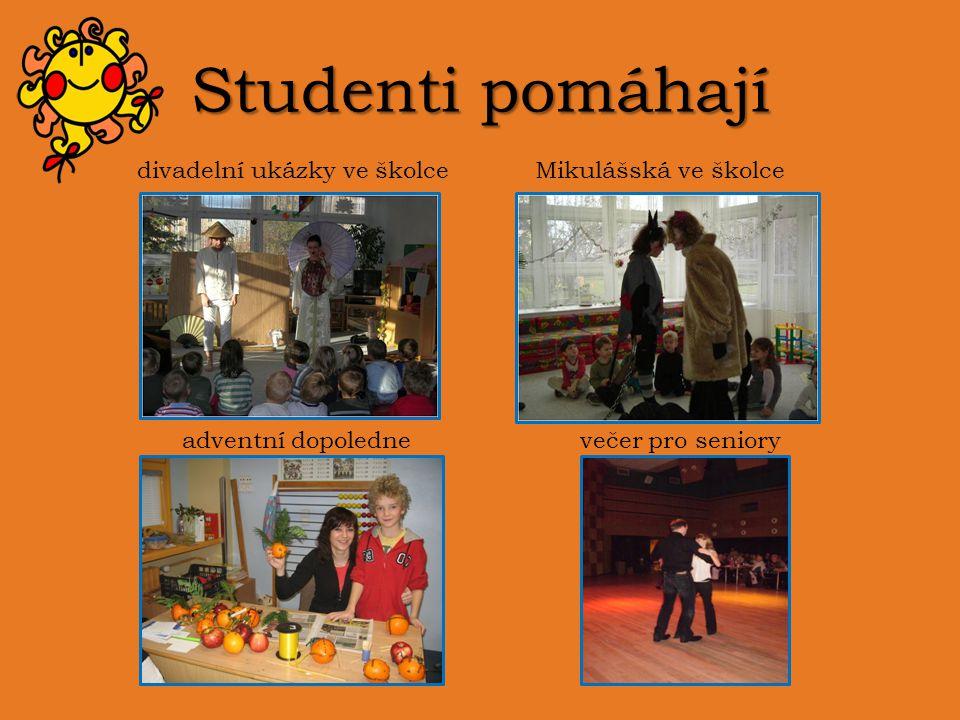 Studenti pomáhají divadelní ukázky ve školceMikulášská ve školce adventní dopolednevečer pro seniory